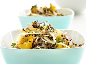 Quinoasalat med fennikel og appelsin Opskrift og styling af Sandra Leigh Draznin
